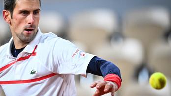 Elődöntős a világelső Novak Djokovics a Roland Garroson