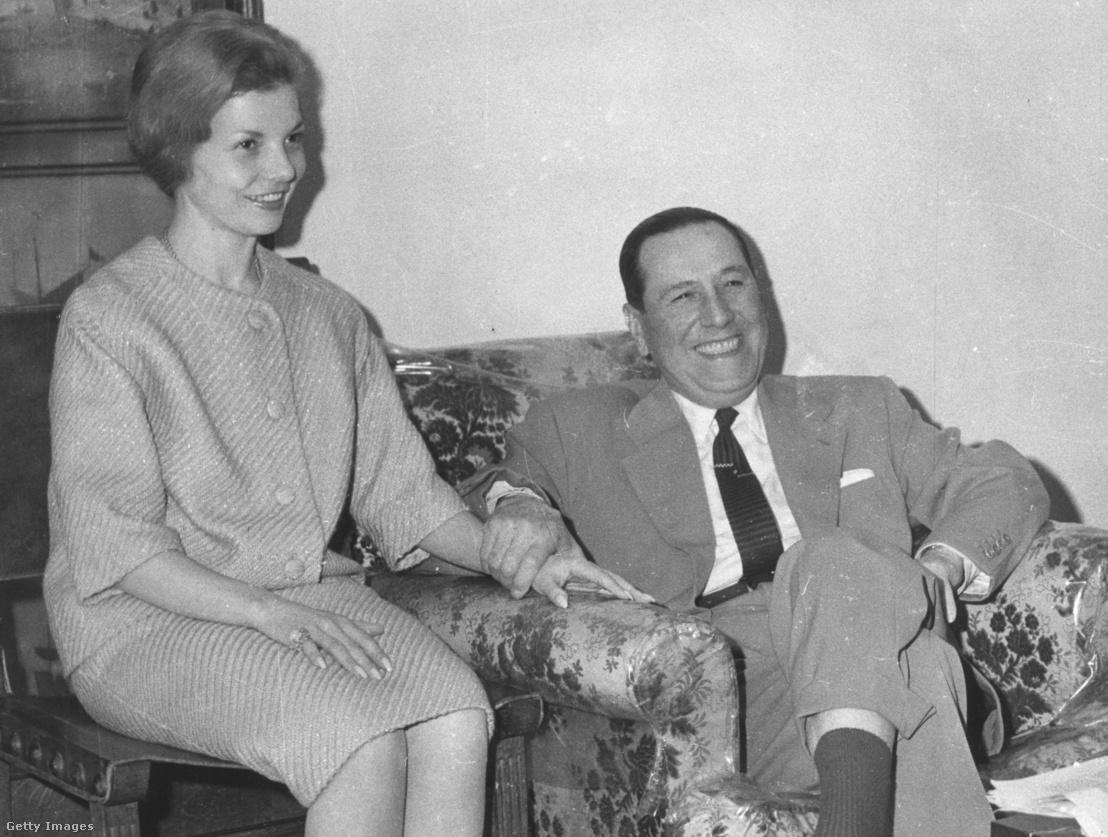 Juan Perón és harmadik felesége Isabel de Perón 1962-ben