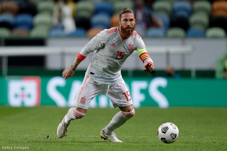 Sergio Ramos a portugál válogatott elleni szerdai mérkőzésen