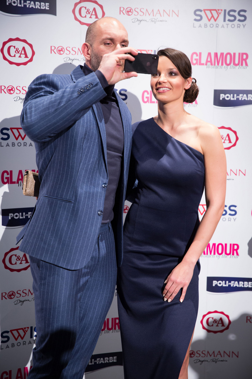 Berki Krisztián és Mazsi a 2018-as Glamour-gálán