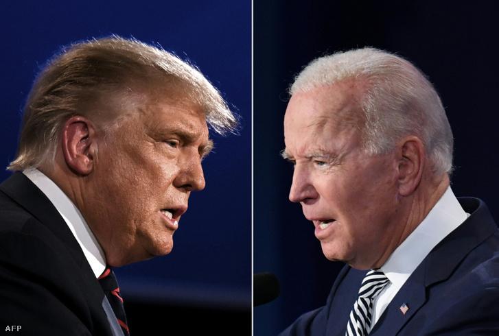 Donald Trump (balra) és Joe Biden
