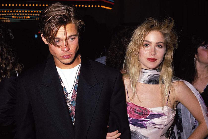 Brad Pitt és Christina Applegate 1989-ben az MTV Video Music Awards-díjátadón.