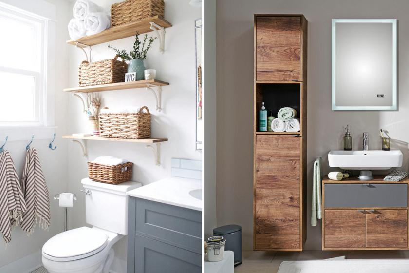 10 praktikus és mutatós ötlet aprócska fürdőkbe: így minden elfér benne