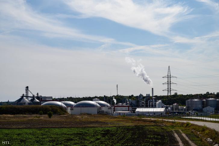 Bioetanolt elõállító üzem Dunaföldváron ahol ipari baleset történt és többen megsérültek 2020. október 9-én.