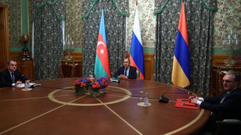 Több mint tíz óra tárgyalás után tűzszünetben állapodott meg Azerbajdzsán és Örményország