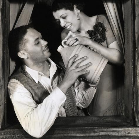 Todd Duncan és Anne Broun színészek, akik elsőként játszották el a Porgy és Bess főszerepeit.