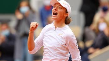 A 19 éves Iga Świątek nyert a nőknél a Roland Garroson