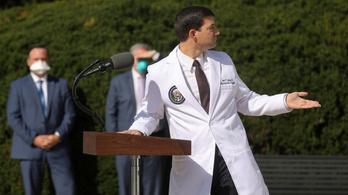 A Fehér Ház vezető orvosa szerint Donald Trump nem fertőz többé