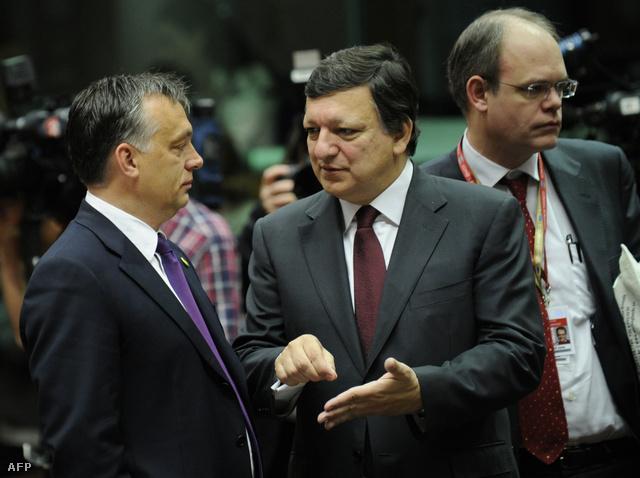 Orbán Viktor és José Manuel Barroso egy 2011-es EU konferencián.