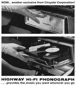 Highway Hi Fi, a Chrysler 1956-os modellévében bevezetett autós lemezjátszója