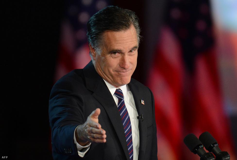 """""""A nemzet kritikus helyzetben van, olyanban, amiben nem engedhetjük meg magunknak a kicsinyes civakodást, a pártok közötti széthúzást"""" - tett gesztust szavaival a vereséget szenvedett Romney."""