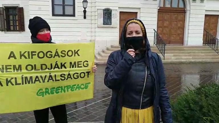 Háromnapos demonstrációt tart a Greenpeace a Várban