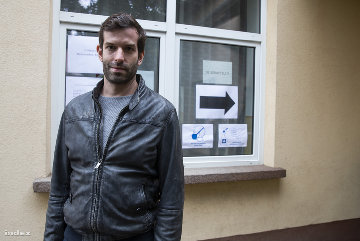 Fekete-Győr András, a Momentum elnöke Mezőzomborban