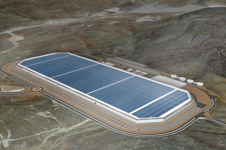 Hasonló lesz a kialakítása a nevadai Gigafactory-hoz