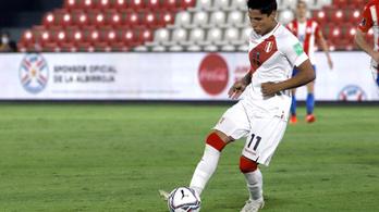 Két perui labdarúgó tesztje pozitív a brazilok elleni meccs előtt