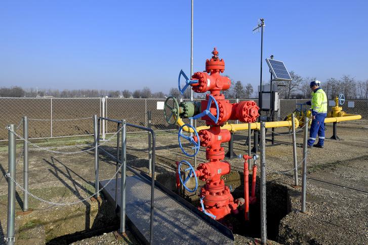 A Magyar Földgáztároló Zrt. hajdúszoboszlói telephelye közelében lévő egyik kútja 2020. január 8-án.