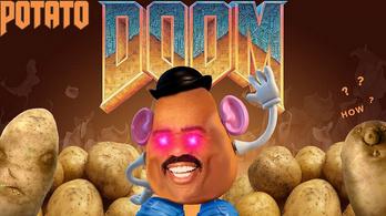 Számológépen fut a Doom, krumpli adja az áramot!