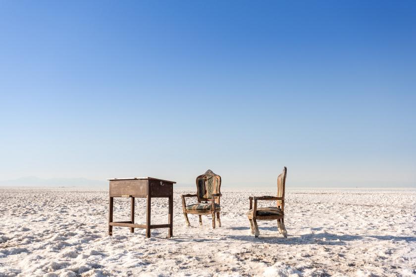 Így haldoklik a világ egyik legnagyobb sós tava: szörnyű látvány az Urmia-tó pusztulása