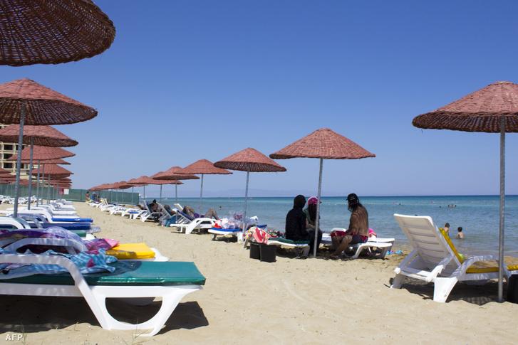 Famagusta városához közel eső strand 2017-ben