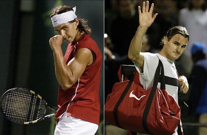 A legendás rivalizálás első felvonását Miamiban Nadal nyerte Federer ellen 2004-ben