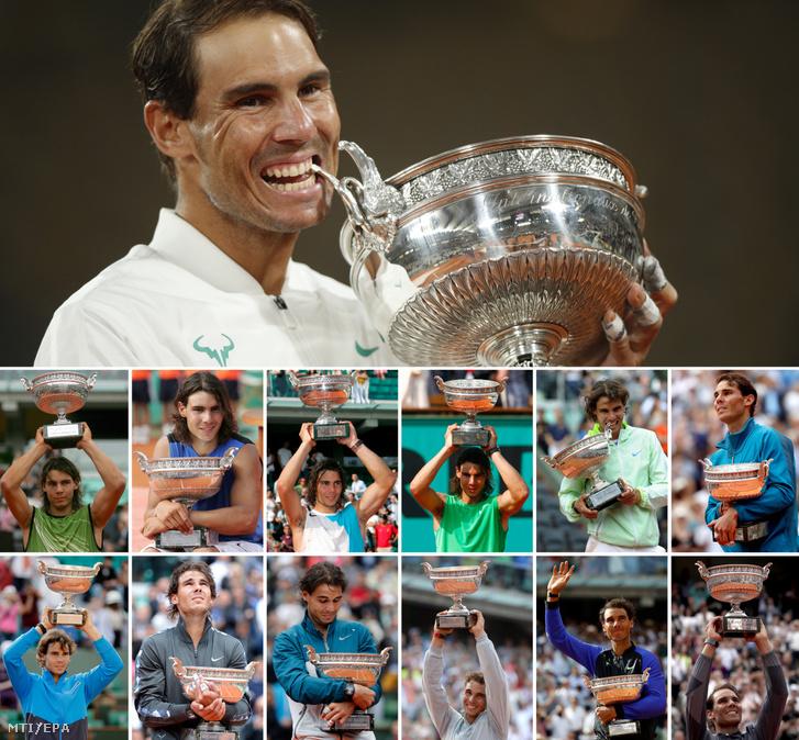 Nadal és a 13-szor elnyert Roland Garros-trófea
