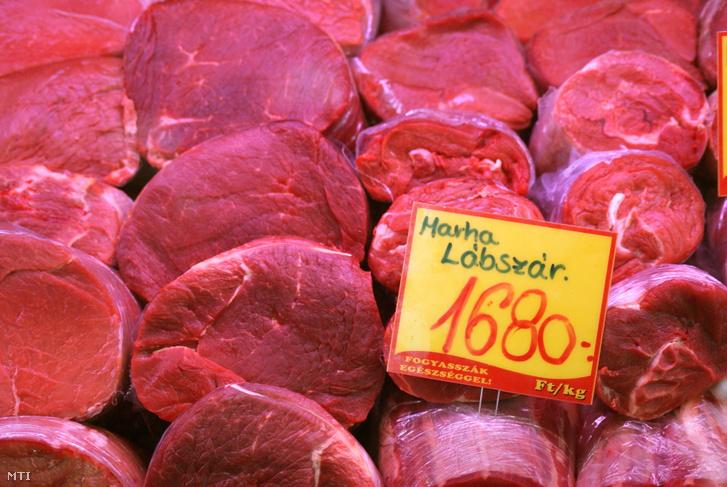 Marhahús árcédulával