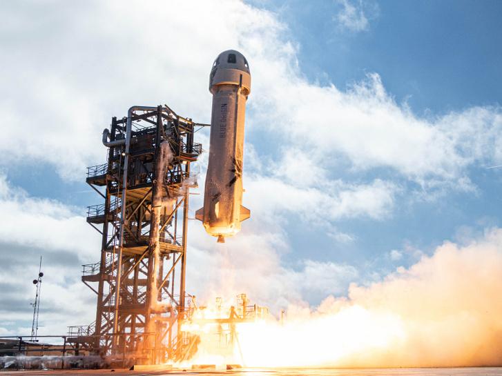 A Blue Origin cég New Shepard nevű rakétája (Forrás: Blue Origin)