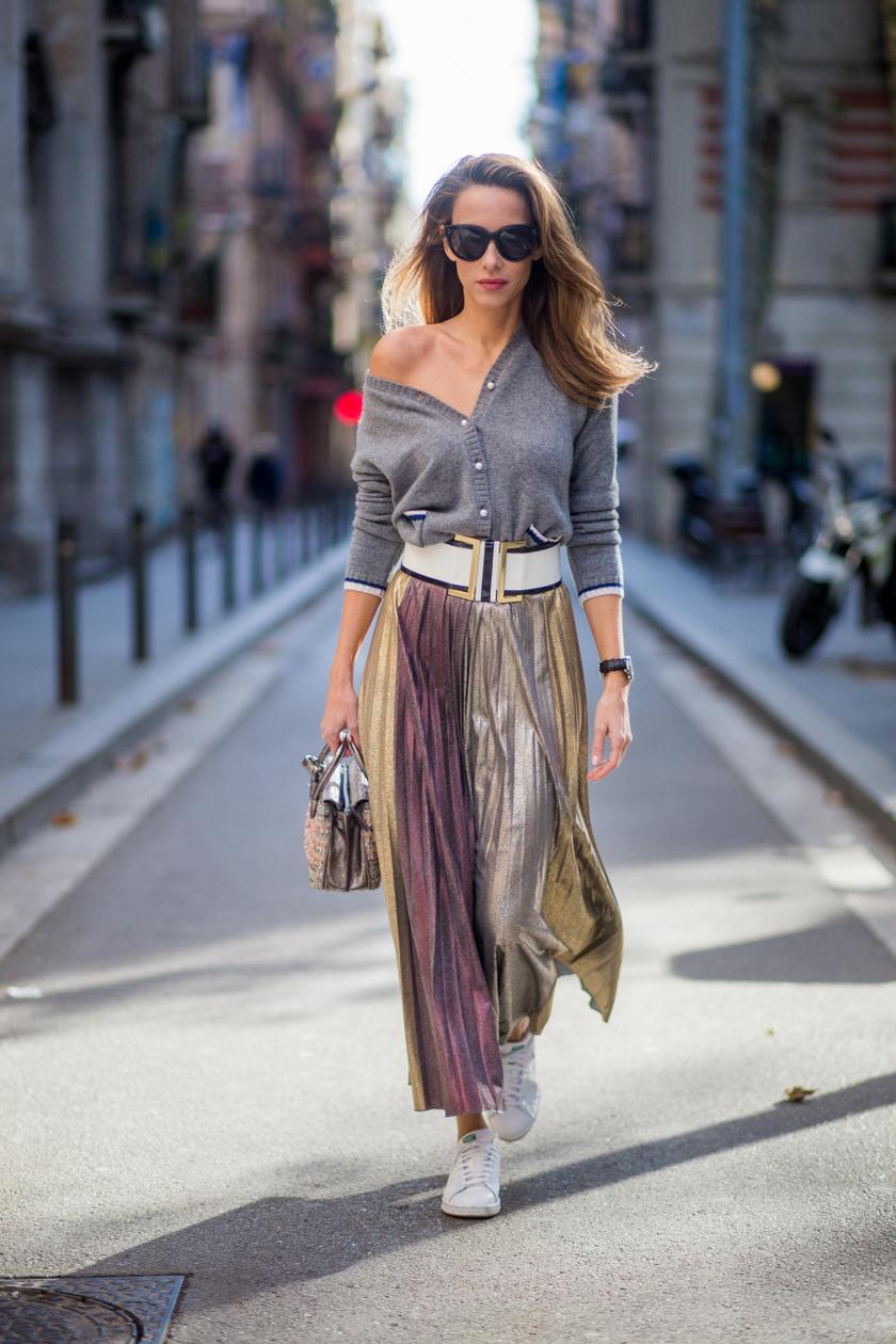 Idén a kardigán akár úgy is divatos, ha önmagában, felsőként viseled. Párosítsd egy midiszoknyával és egy övvel, hogy garantáltan extra nőies legyen a hatás.