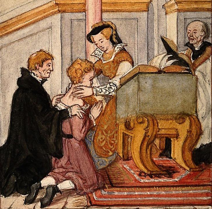 I. Mária megérint egy skrofulás beteget
