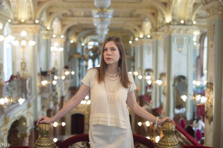 Stork Natasa színművésznő a budapesti New York Kávéházban 2020. augusztus 10-én