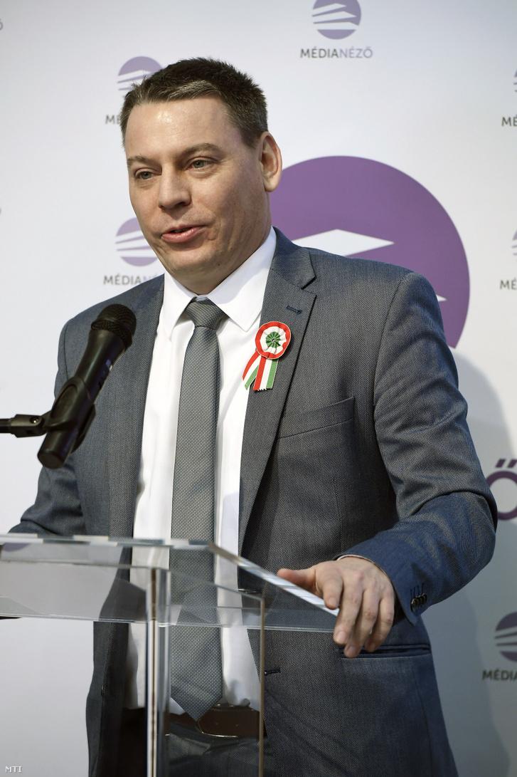 Boros Bánk Levente a Médianézõ Központ igazgatója 2019. március 14-én