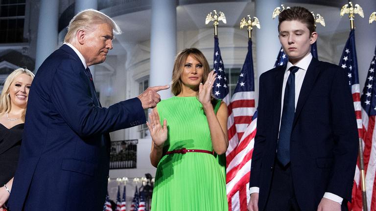 Trump legkisebb fia is elkapta a koronavírust