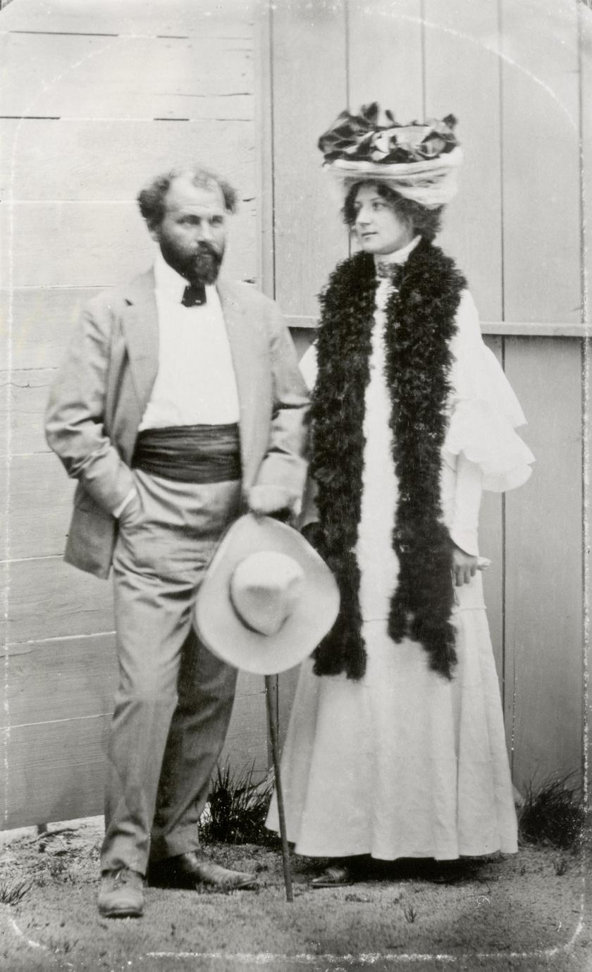 Emilie Flöge és Gustav Klimt.