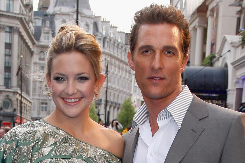 Matthew McConaughey rémes volt a csókjelenetben: Kate Hudson árulta el a ciki történetet
