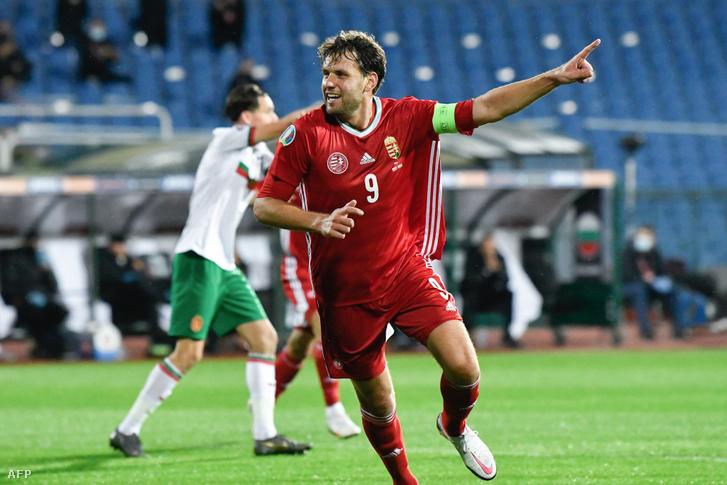 Szalai Ádám a Bulgária elleni mérkőzésen