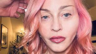 Madonna haja rózsaszín lett