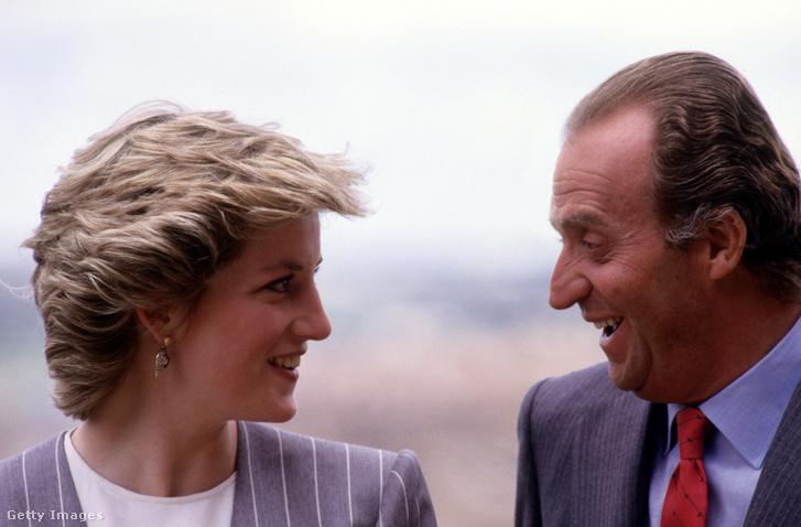 Diana hercegné és I. János Károly spanyol király 1987. április 23-án Toledóban. Szemet vetett rá.