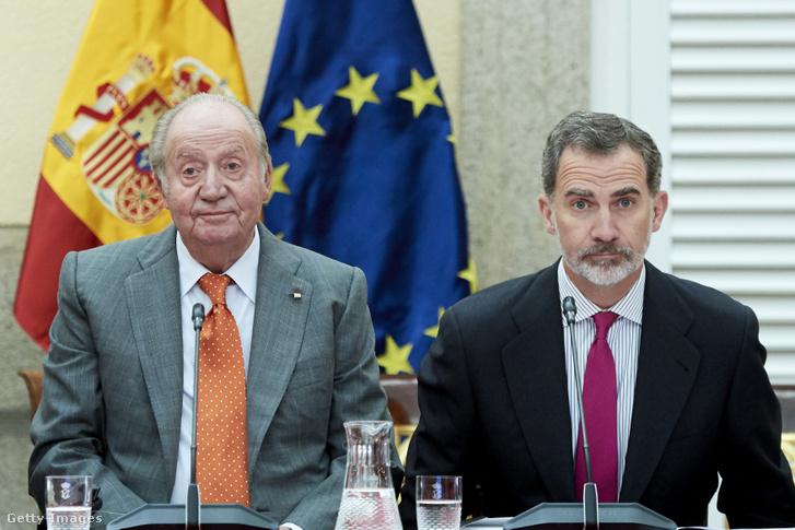 I. János Károly és fia, VI. Fülöp a COTEC alapítványi találkozón Madridban 2019. május 14-én. Már nincs apanázs.
