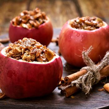 Granolával töltött sült alma: kellemes illata belengi az egész lakást