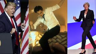 Trump elnök tánca meg sem közelíti Leonardo Dicapriót vagy Gyurcsány Ferencet