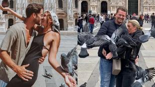Két holland talált egy híres teret Olaszországban, ahol pont nem tilos a galambokat etetni