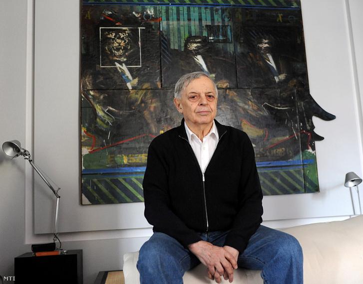 Lakner László Berlinben élő Kossuth-díjas, magyar neoavantgárd festőművész 2012-ben