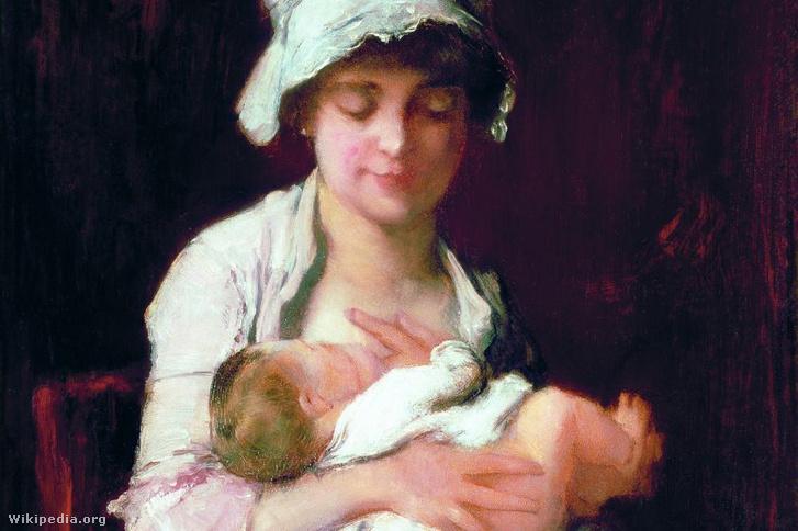 Tanulmány az Anyai ösztön (A dajka) című festményhez