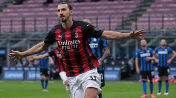 Ibrahimovic duplázott, a Milan legyőzte az Intert a derbin