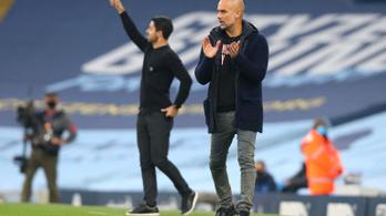 Guardiola ismét legyőzte tanítványát, nyert a City az Arsenal ellen