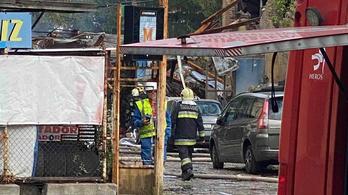 Felrobbant egy autószerviz Budapesten