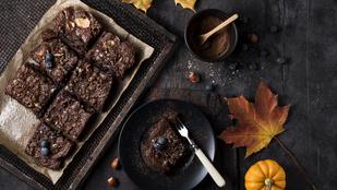 Ezt a 4 összetevős, sütőtökös brownie-t akár a gyerekekkel is összedobhatod