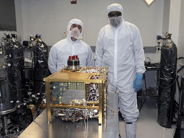 A SAM műszercsomag még a földi előkészítés során [NASA/JPL-Caltech, SAM/GSFC]