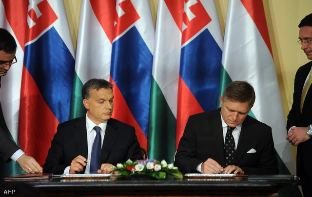 Orbán Viktor és Robert Fico Pilisszentkereszten