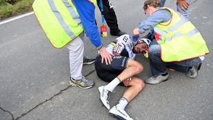 Két helyen eltört az országúti kerékpáros világbajnok Julian Alaphilippe keze